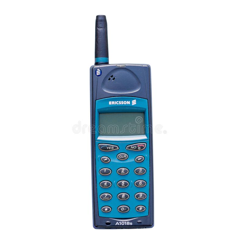 Old vintage Ericsson A1018s mobile phone stock image