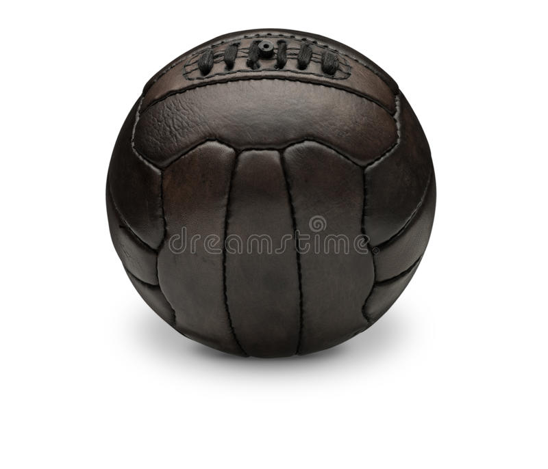 Old Vintage Football. On White background with drop shadow royalty free stock photos