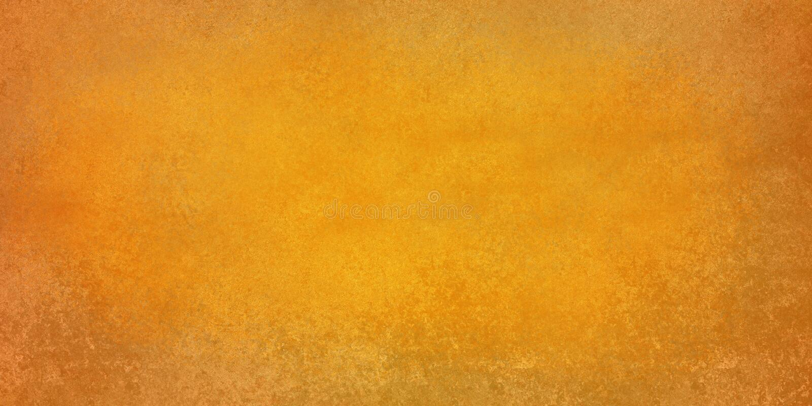 Vintage gold background with warm orange autumn hues, damaged distressed texture. Old vintage gold background with warm orange autumn hues, damaged distressed royalty free illustration