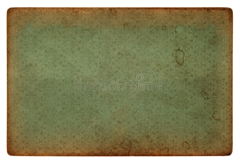 Old vintage grunge paper sheet with pattern stock image