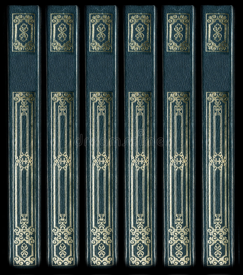 Free Old Vintage Leather Book Spines Royalty Free Stock Photo - 3779845