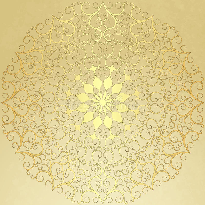 Free Old Vintage Paper With Gold Round Pattern Stock Image - 30405021