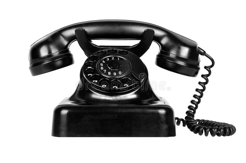 Old vintage phone stock photo