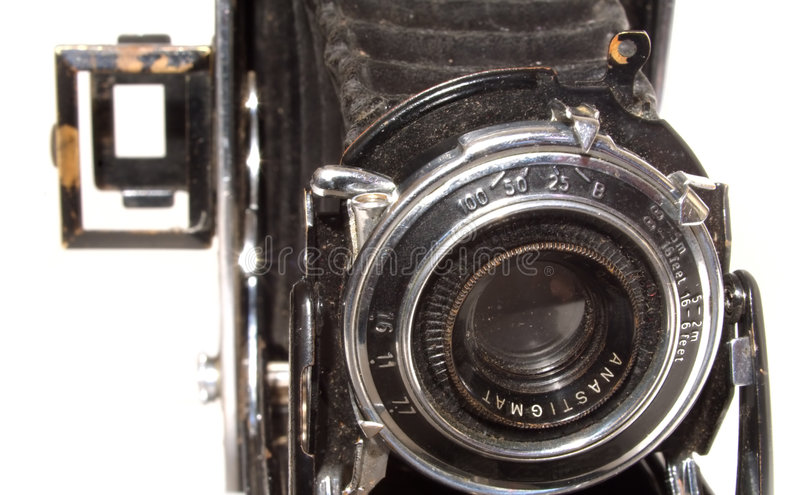Download Old vintage photo camera stock image. Image of photograph - 4310427