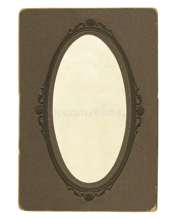 Old vintage photoframe with oval vignette royalty free stock images