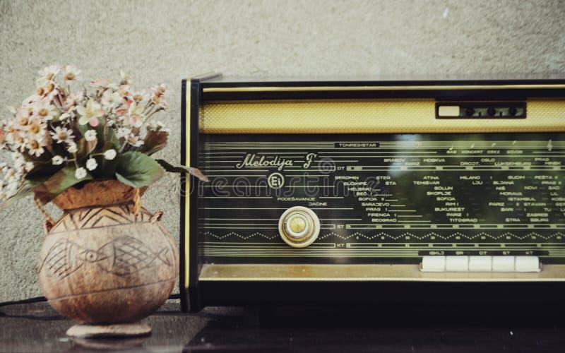 Old vintage radio stock images