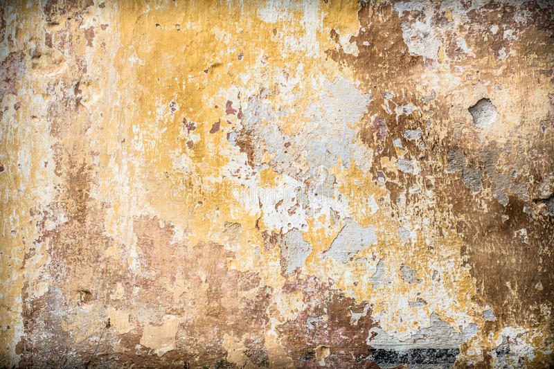 Old Vintage Rustic Wall With Cracked Paint Layers Stock Photo ...