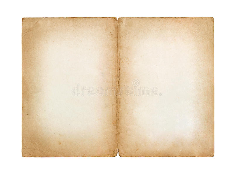 Old vintage sheet of paper. Isolated on white background stock images