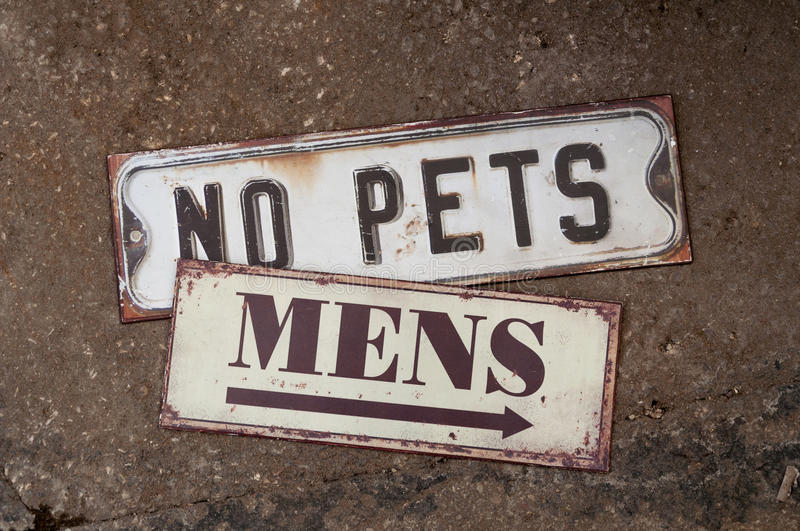No pets stock images