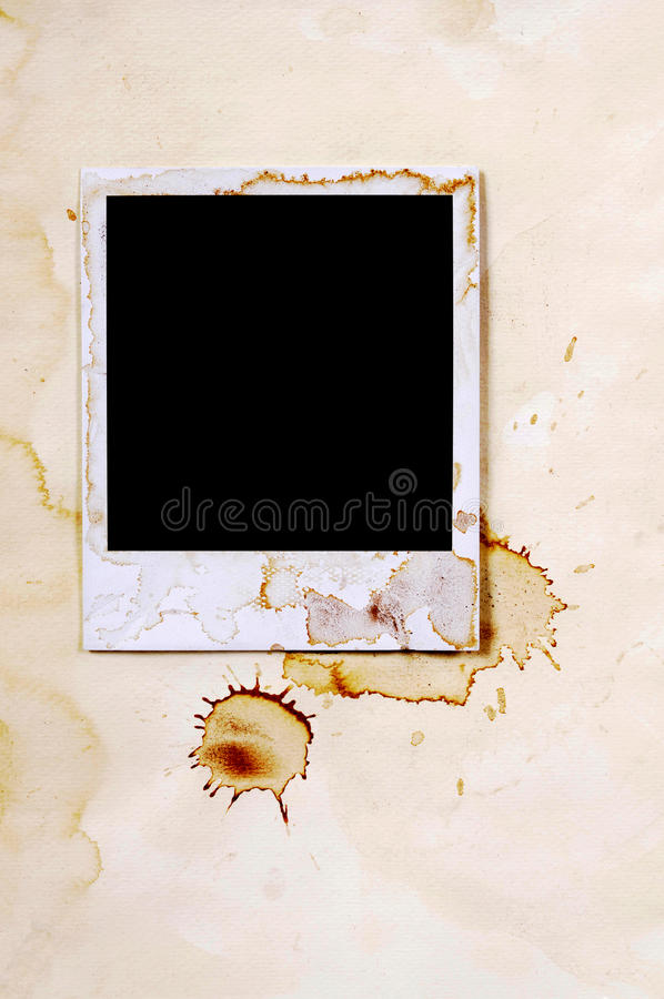 Old Vintage Stained Polaroid Style Blank Photo Print Frame Photo ...