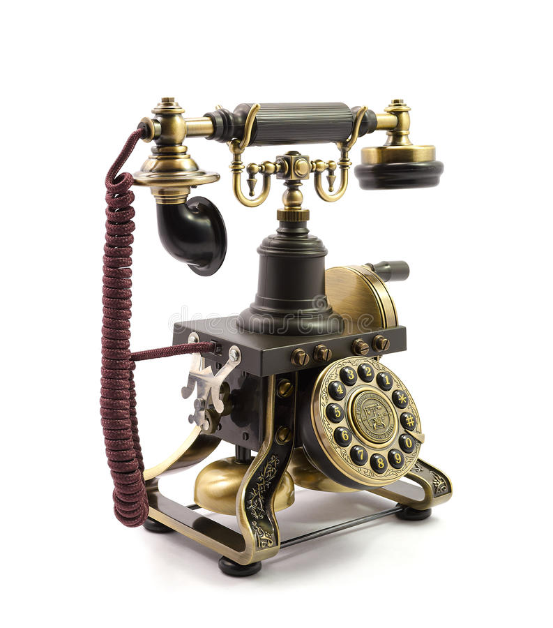Download Old vintage telephone stock photo. Image of antique, business - 36184486