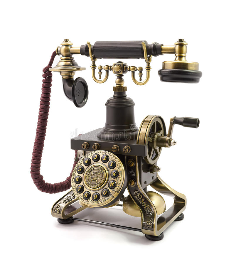 Download Old vintage telephone stock photo. Image of isolated - 36184488