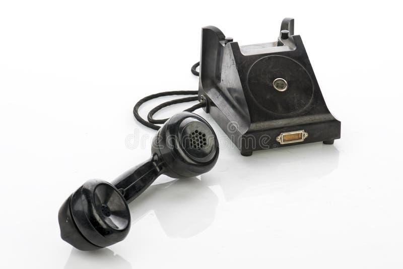 Old Vintage Telephone Isolated on White Background.  royalty free stock photography