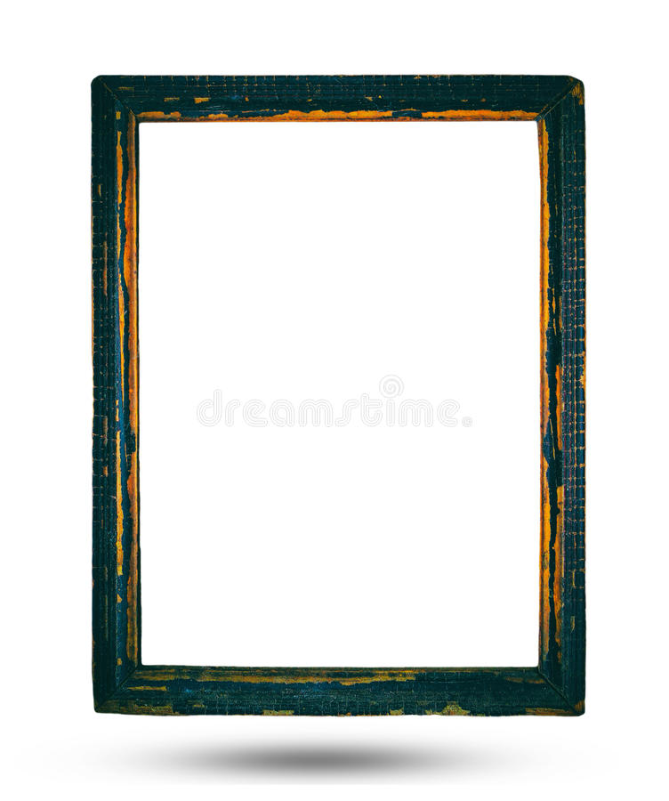 Old vintage tone of wooden frame stock photo