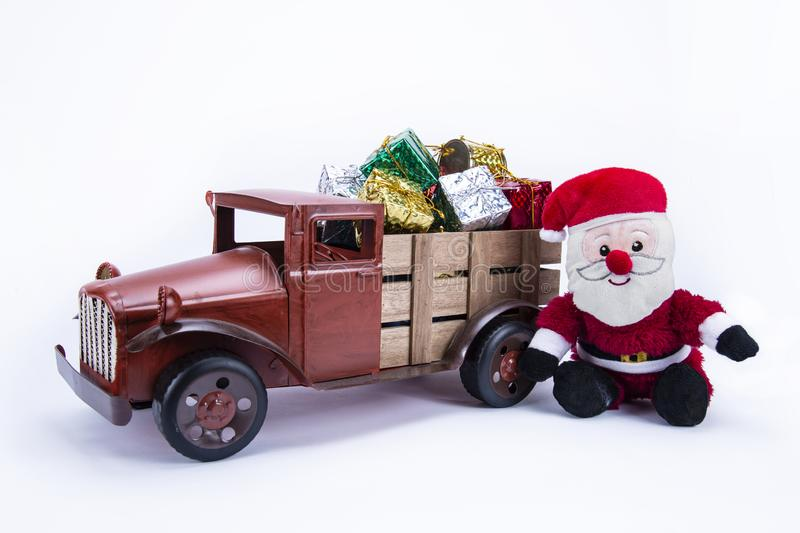 Old vintage toy truck stock photo