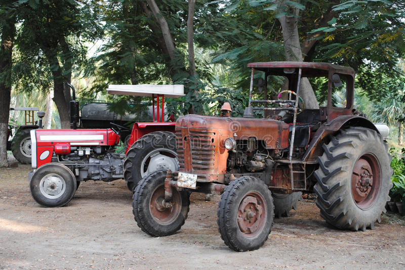 Download Old Vintage Tractors In Field Stock Image - Image: 28396729