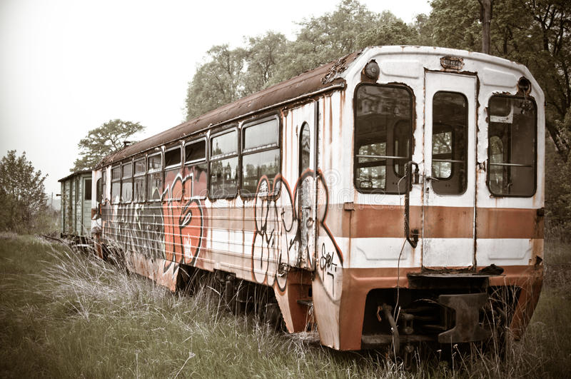 Old Vintage Train Royalty Free Stock Image