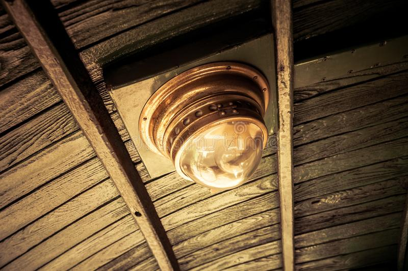 Old vintage train lamp royalty free stock images