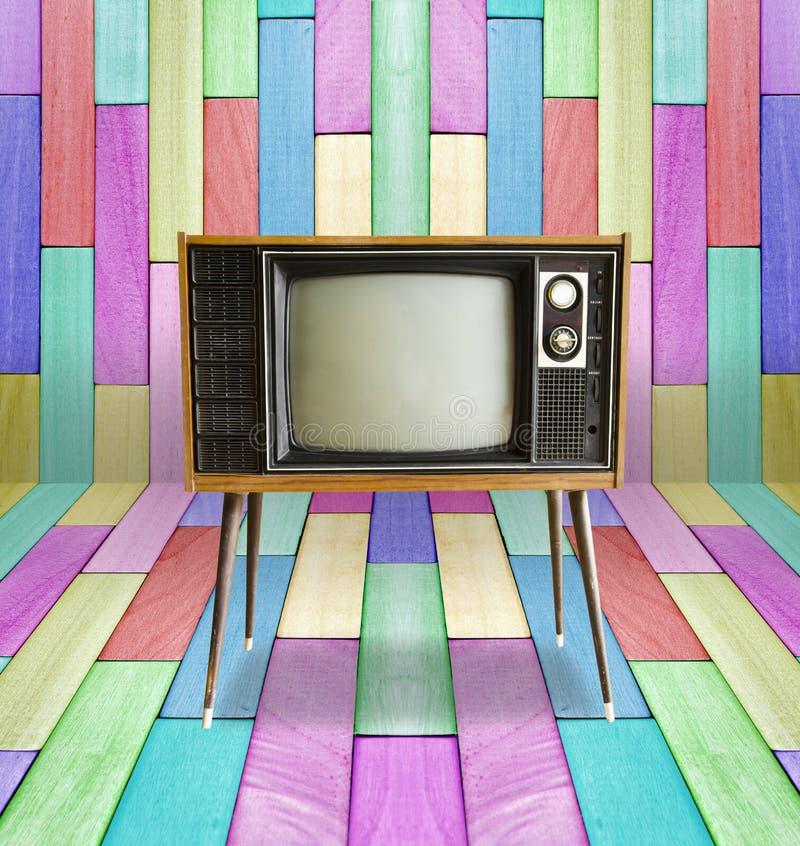 Old vintage TV stock photos
