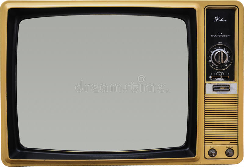 Old Vintage TV. About 40 years old vintage TV - Retro stock image