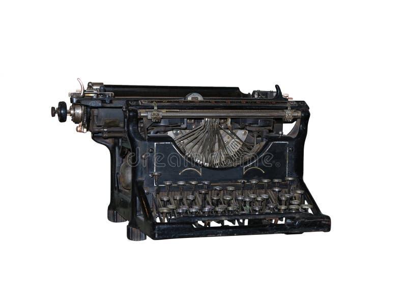 Download Old Vintage Typewriter Isolated Over White Stock Image - Image of corona, keyboard: 30485747