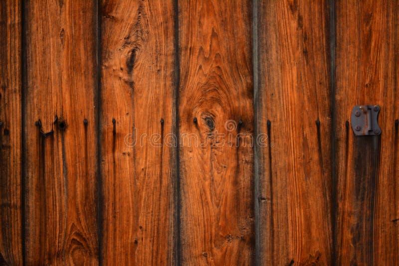 Old vintage wood barn door texture background stock photo