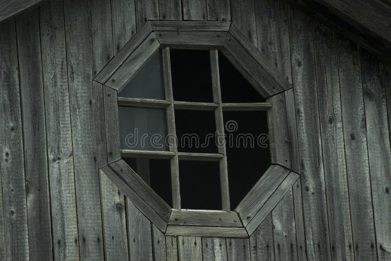 Old vintage wooden broken window royalty free stock images