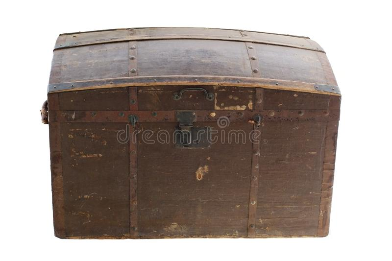 Old vintage wooden chest royalty free stock photo