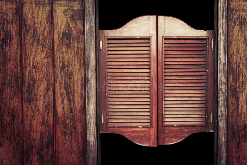 Old Vintage Wooden Saloon Doors Stock Image Image Of