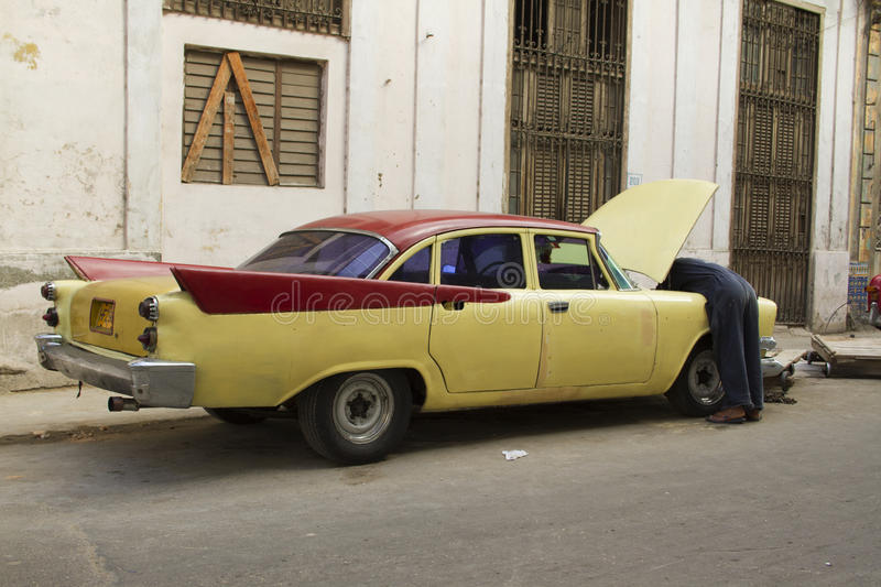 Download Old Vintage Yellow Cuban Car Editorial Photo - Image of auto, cuban: 39508551