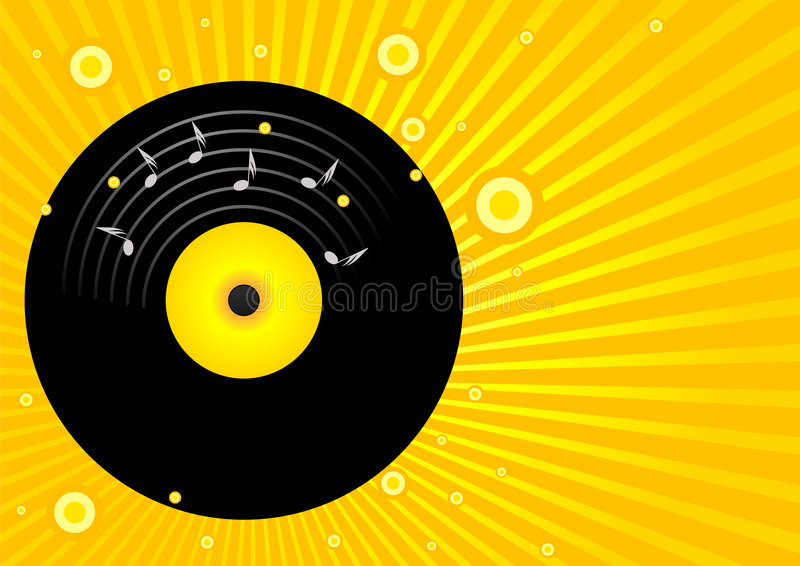 Old vinyl. Editable vector party background - Old vinyl royalty free illustration