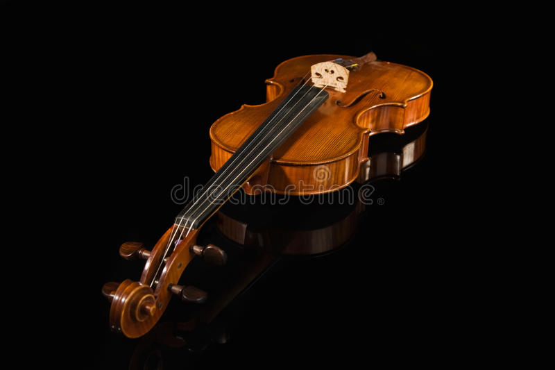 Download Old violin over black stock photo. Image of music, antique - 18957516