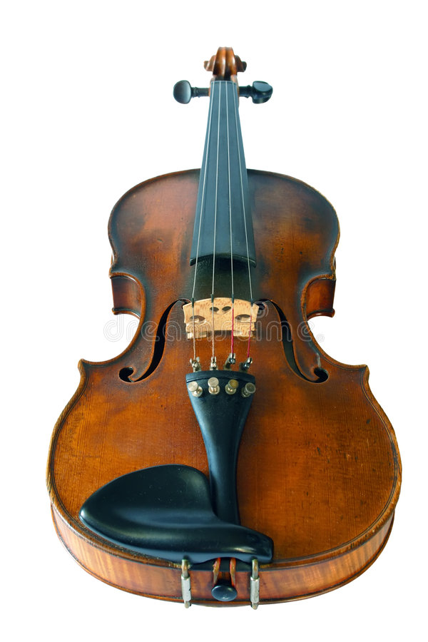 Old violine isolated. On white background stock photography