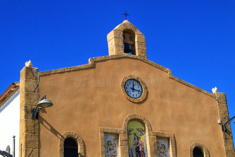Old Virgen del Carmen hermitage in Isla Plana village stock image