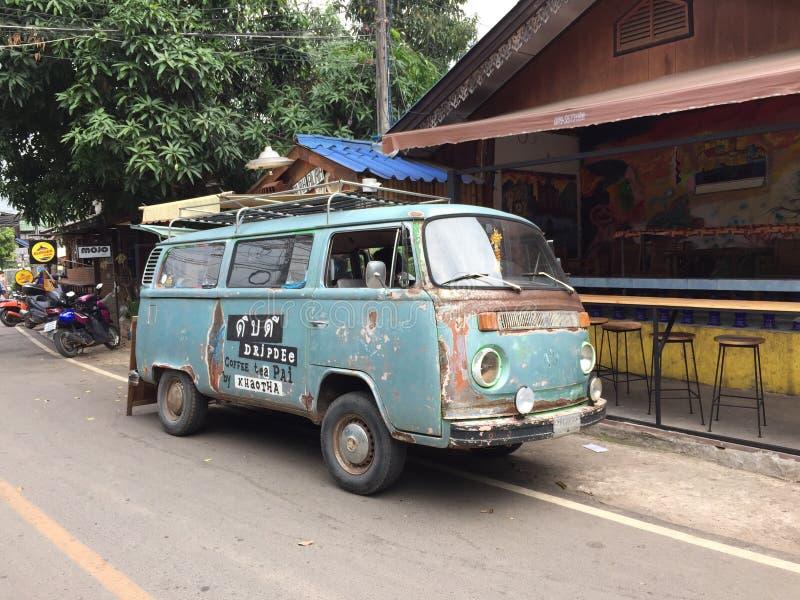 Old Volkswagen Van Food Truck For Sale Coffee Editorial Image ...