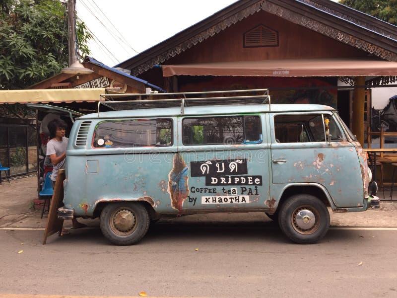 Old Volkswagen Van Food Truck For Sale Coffee Editorial Stock Photo ...