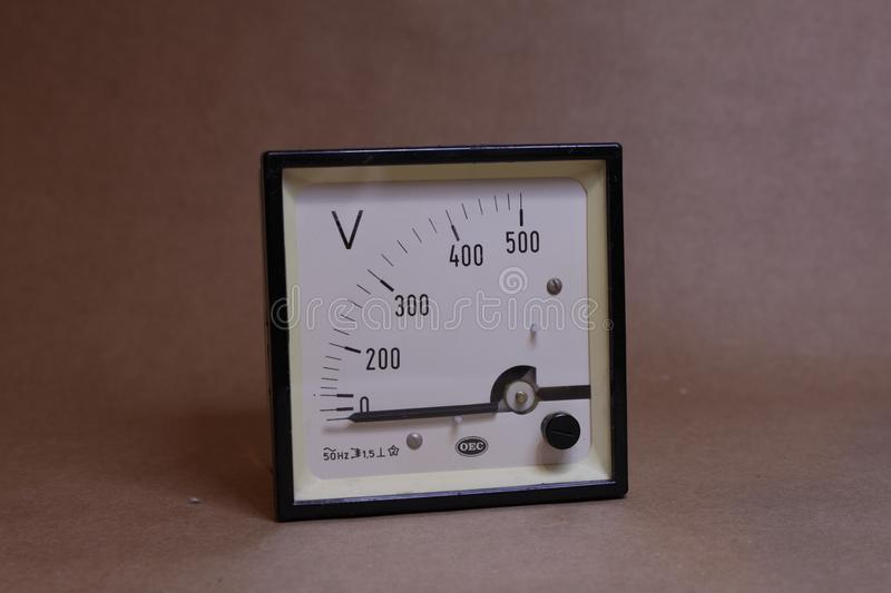 An old Volt meter display royalty free stock image