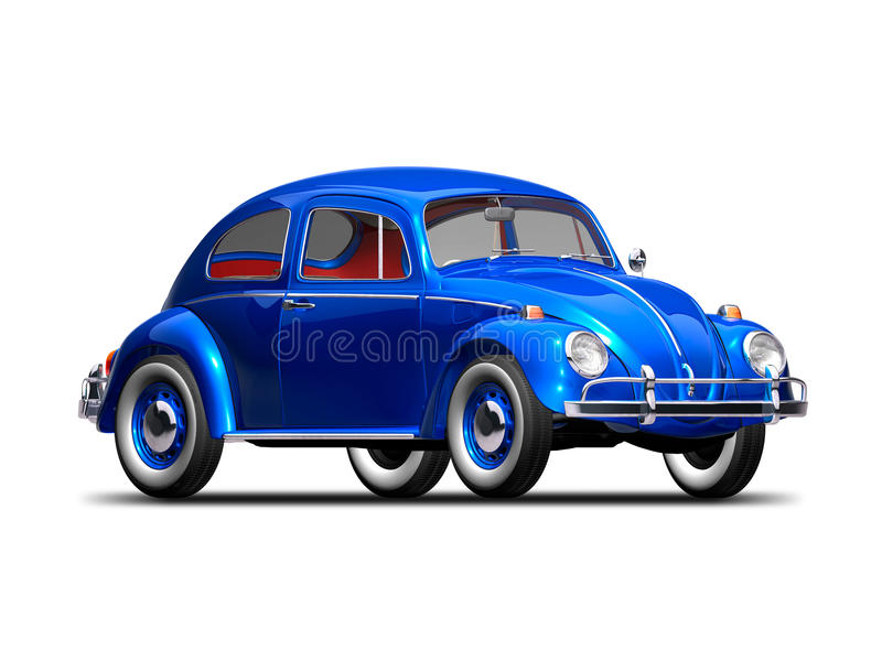 Old VW Beetle stock illustration