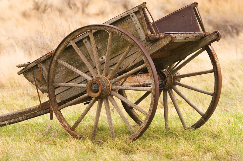 Old wagon. On a farm royalty free stock photography