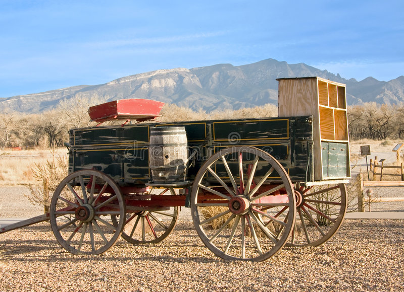 Old Wagon. Old wild west classic wood wagon stock photography