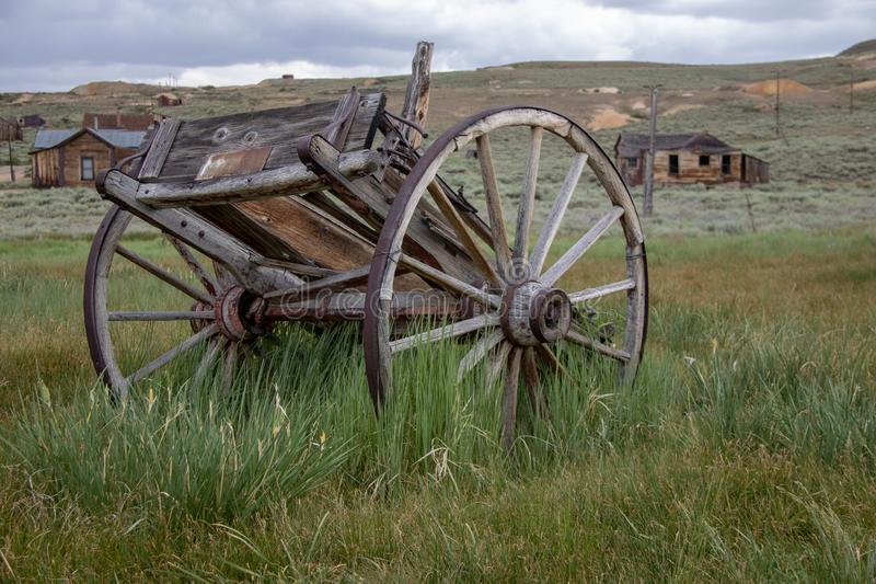 An Old Wagon in Bodie, California. An old wagon in the old gold mining ghost town of Bodie, California royalty free stock image