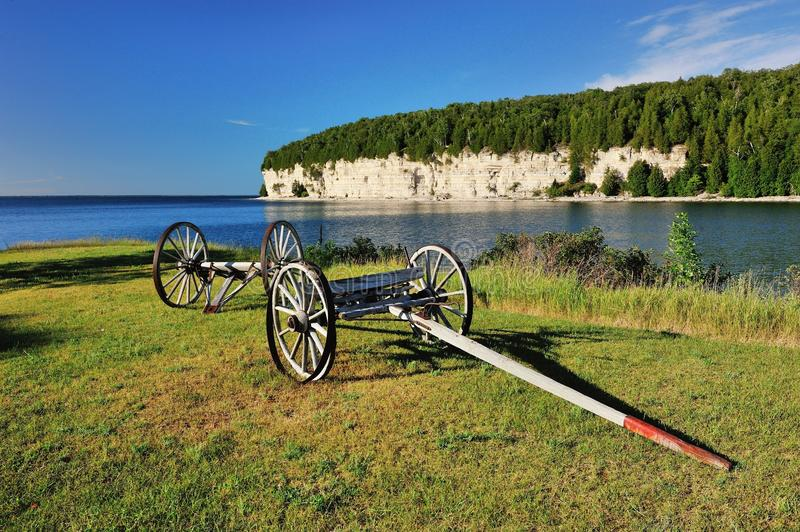 Old wagon in Fayette State Park. Fayette State Park, Michigan's Upper Peninsula royalty free stock images