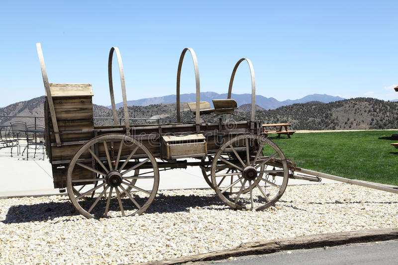 Old Wagon. Old historical wagon in Virginia city Nevada royalty free stock photography