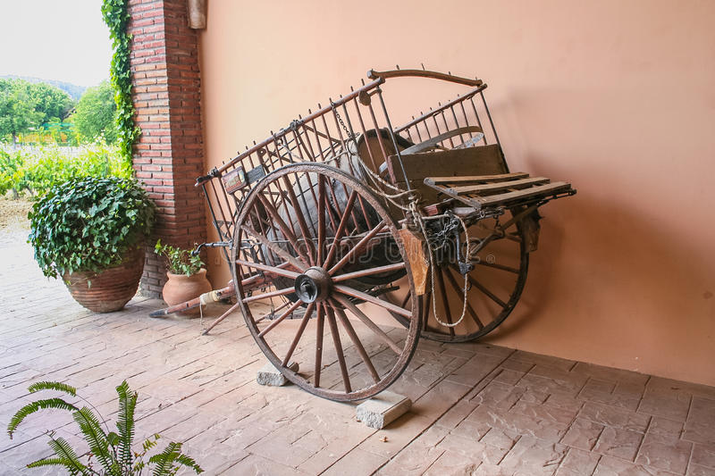 Old wagon for transportation royalty free stock photography