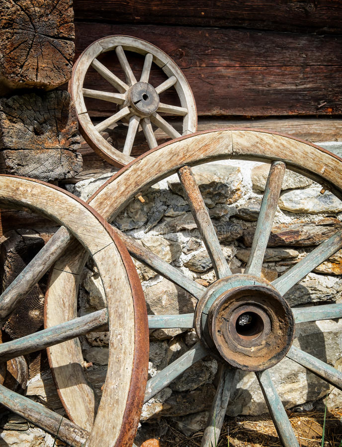 Download Old Wagon Wheels Stock Image. Image Of Rust, Front, Rustic    49188795