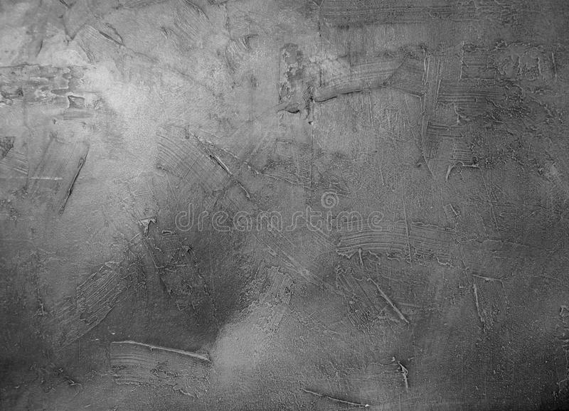 Old wall with , acrylic, brush strokes texture. In monochrome royalty free stock photo