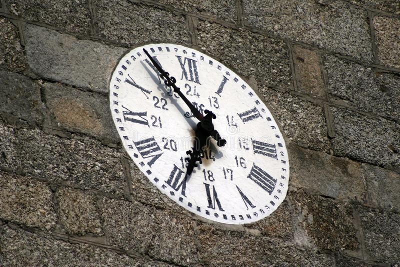Old wall clock royalty free stock photography