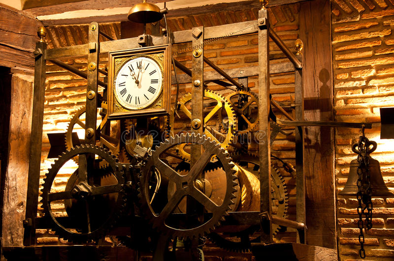 Old Wall Clock Royalty Free Stock Images