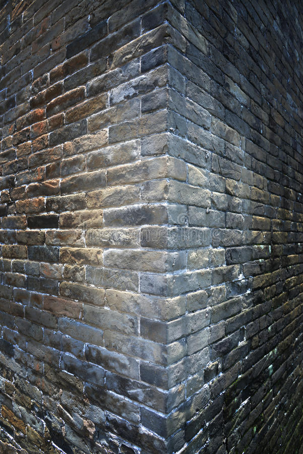 Old wall corner backgound. Grunge old wall corner backgound royalty free stock image