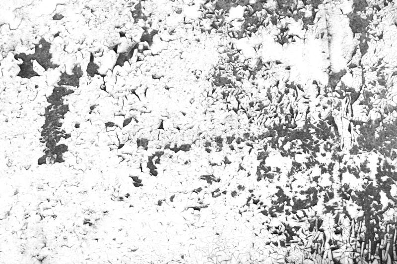 Grunge contrast old wall with cracked paint background royalty free stock photography